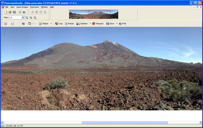 PanoramaStudio for Mac OS X full screenshot